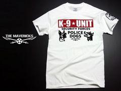 K9-UNIT 警察犬部隊 POLICEDOGモデル Tシャツ 白×黒赤 S新品