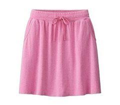 新品 UNIQLO ユニクロ ストレッチ ジャージー スカート ピンク