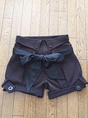 [lefua lea]★ストライプ柄×茶色・ベルト付きショートパンツ★