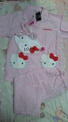 タグ付き可愛いキティちゃんパジャマ4点セットM