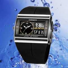 OHSEN★日本未発売★多機能デジタル/アナログ腕時計★メンズ