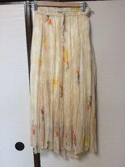 花柄シフォンロングスカート