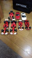 レストアやクラッシュ再現に?ジャンクF1フェラーリ等セット売り。完成品。