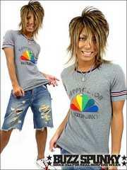 BUZZSPUNKY(バズスパンキー)Happy color Tシャツ/L