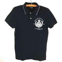 状態良 ZARA MAN sport classic 刺繍 ポロシャツ L ~ xL 黒