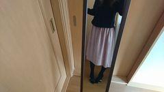 黒/ピンク☆ワンピース☆Lサイズ☆