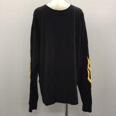 【GENKINGオク】CHAMPION ロングTシャツ ファイヤーパターン 黒