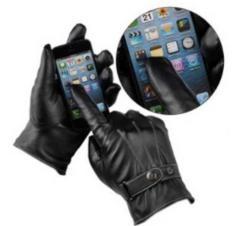 人気の定番商品 はいたまま スマホ 操作 が できる PU 革手袋