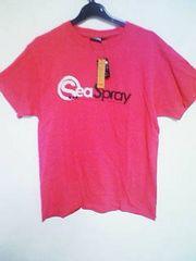 Aー58★新品★半袖カラーロゴプリントTシャツ ピンク L