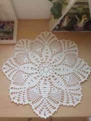 ♪手編み♪  雪の結晶ドイリー  オフホワイト