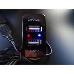 ダイハツ用 USBポートパネル  充電&オーディオ中継