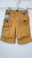 美品 ラキエーベ キムラタン ハーフパンツ 半ズボン サイズ80 キャメル