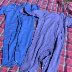 シンプル★epi 紫&ブルーロンパース サイズ70セット
