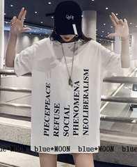 【2L3L】大きいサイズ!ロゴプリデザインTシャツワンピース/白