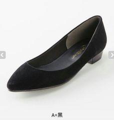 新品★ローヒール パンプス 26.5cm ブラック 黒色