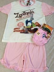 新品格安!ディズニー《ズートピア》半袖パジャマ&ショーツ120cm