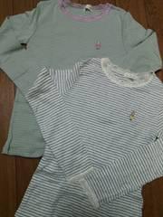 みみちゃん★ボーダシャツ2枚140cm/ニットプランナー*KP
