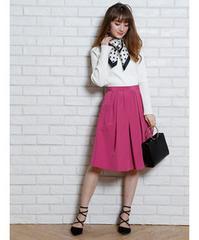 【新品】アプワイザーリッシェ☆グログランタックスカート☆濃ピンク0サイズ
