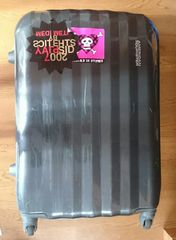 中古 スーツケース AMERICAN TOURISTERグレー 鍵なし 57×40×22
