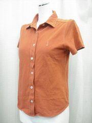 【イーストボーイ】ライトブラウンの半袖シャツです