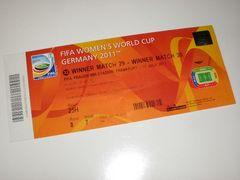 2011FIFA女子ワールドカップ日本VSアメリカ決勝チケット