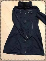 黒/丈長め/長袖/薄手/コート?/ジャケット?/Mサイズ