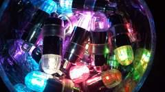 ☆ LED* イルミネーション☆  専用電池30個付き◆color:ピンク色