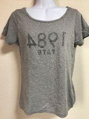 ★イエナ スローブ グレー×逆ロゴ入Tシャツ★
