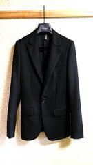 正規新古 Dior Homme ディオールオム ピークドラペルジャケット黒 最小38 スーツ