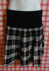 ウエスト幅広ゴムのミニプリーツスカート