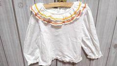 日本製☆フリル長袖シャツ☆サイズ100