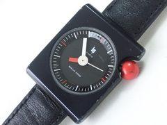 10516/Lipリップ★お洒落なスクエア型ケースフルブラックレディース腕時計