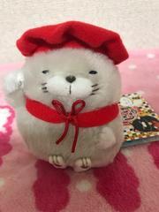 ひげまんじゅう 招き猫 弐 ぬいぐるみ マスコット 【 ほとけ 】