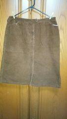 【大きいサイズ】とっても素敵なスカート♪茶色♪コーディロイ