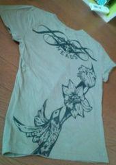 used 「GLAD NEWS」 スカル×トライバルprint 格好いいTシャツ