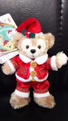 ディズニーシー TDS クリスマス 15周年 ぬいぐるみバッジ ダッフィー サンタ