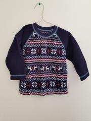 紺にクリスマス模様の起毛パジャマ90