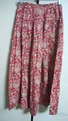ピンクハウス スカート バラの花柄が素敵綿100