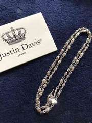 新品◆JUSTIN DAVIS◆TINY CROSS CHAIN◆クロスチェーン◆50cm◆