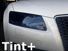 Tint+再使用できるアウディA5/S5 8T前期ヘッドライト スモークフィルム