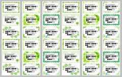 �D差出人シール9種36枚 □リーフ□カット付