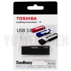 東芝製 USBメモリー 32GB 高速なUSB3.0対応 新品 落ち着いたブラック 黒