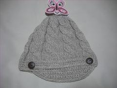 wb458 女 RIP CURL リップカール つば付き ニット帽 カーキ