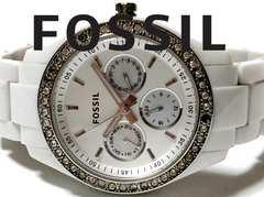 良品 1スタ★フォッシル FOSSIL【ジルコニア】美しい腕時計