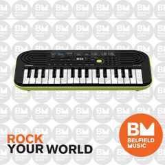 電子ミニキーボード 32ミニ鍵盤 SA-46 黒&緑