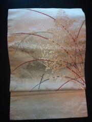 クリーム金銀刺繍*ナゴヤ正絹中古美品レタパR
