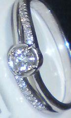 K18WG☆☆天然ダイヤモンド0.20ctデザインリング