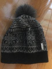 ルシェル購入☆allegriアレグリ☆リアルファーボンボンニット帽