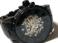 極美品【1点もの】ANGIE【自動巻き】両面スケルトン 腕時計