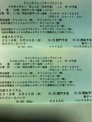 日本代表vsガーナ 5/30 日産スタジアム カテ2 バック ペア